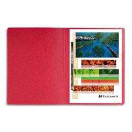 Chemise à lamelles et compresseur - capacité 350 feuilles perforées - carte lustrée - coloris rouge (photo)