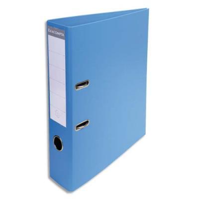 Classeur à levier Exacompta en PVC - dos de 7 cm - format 32 x 29 cm - coloris bleu