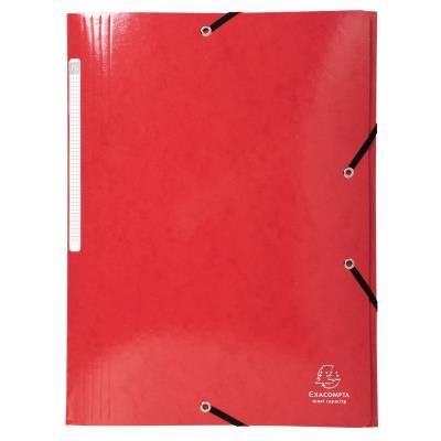 Chemise à 3 rabats et à élastiques A4 Exacompta Iderama - 300 feuilles - 240 x 320 mm - carte polypropylène - rouge