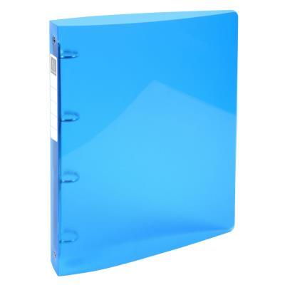 Classeur 4 anneaux Exacompta Iderama - polypro souple 7/10 brillant - dos 4 cm - bleu clair