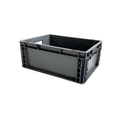 Bac de rangement norme Europe - gerbable 15 litres - polypropylène gris anthracite