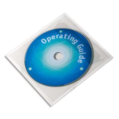 Pochettes adhésives pour CD Durable PocketFix - boîte de 10