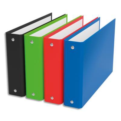 Classeurs à fiches 2 anneaux - dos 4 cm - format A6 - en Balacron - coloris assortis