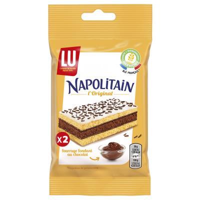 Sachet de gâteaux LU Napolitain - 30 g - 2 gâteaux - fourrage au chocolat