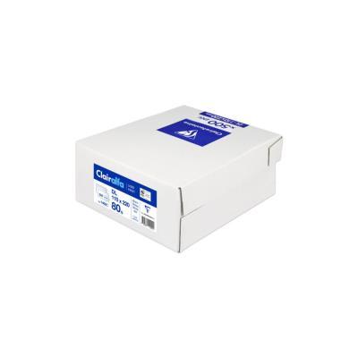 Enveloppe extra blanche DL Clairalfa 110 x 220 mm 80g avec fenêtre - bande autoadhésive - boîte 500 unités