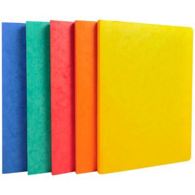 Chemise simple à dos rainé Exacompta Lustro - carte 5/10e - 24 x 32 cm - coloris assortis (photo)