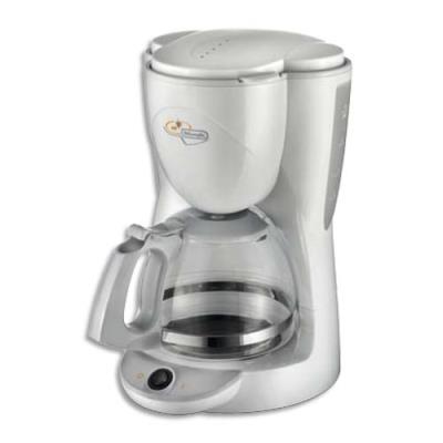 Cafetière à filtre Delonghi - 1000W - 10 tasses - verseuse verre - L26 x H35 x P21 cm - blanche (photo)