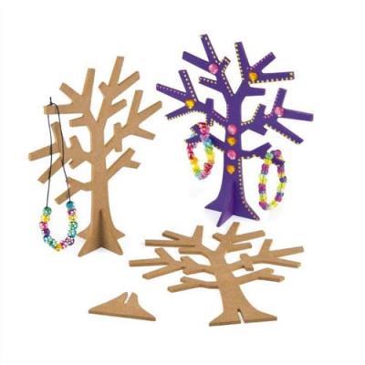 Arbre à bijoux avec socle - en bois à décorer - hauteur 19 cm