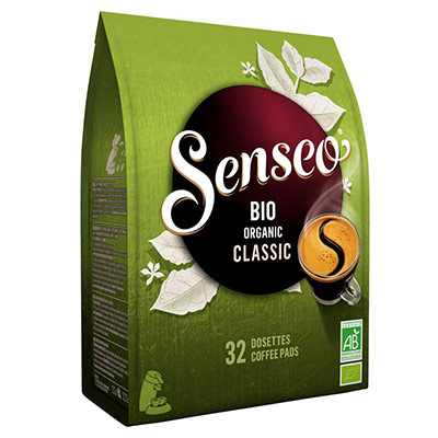 Café Bio Classic Senseo - paquet de 32 dosettes souples (photo)
