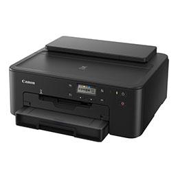 Canon PIXMA TS705 - Imprimante - couleur - Recto-verso - jet d'encre - A4/Legal - jusqu'à 15 ipm (mono) / jusqu'à 10 ipm (couleur) - capacité : 350 feuilles - USB 2.0, LAN, Bluetooth, Wi-Fi(n) (photo)
