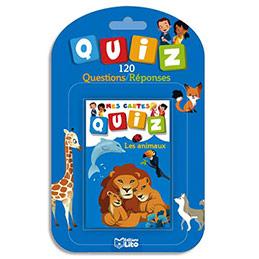 Jeu de cartes Quizz - 120 questions réponses thème animaux (photo)