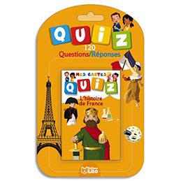 Jeu de cartes Quizz - 120 questions réponses thème L'histoire de France (photo)