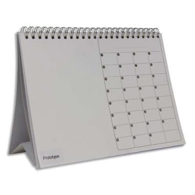 Calendrier perpétuel en carton à décorer - format 21,5 x 3,5 x 16 cm