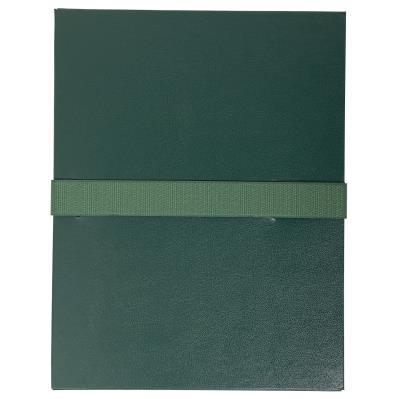 Chemise extensible Exacompta - en balacron - fermeture par sangle velcro - vert foncé