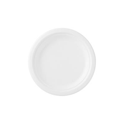 Sachet de 50 assiettes en carton blanc - diamètre 23 cm (photo)