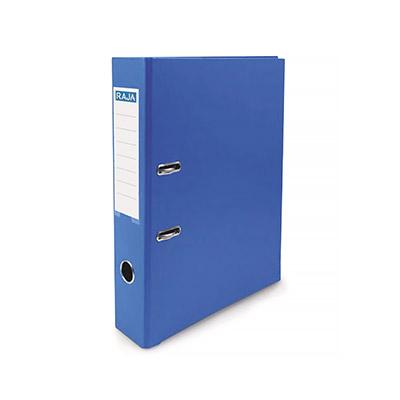 Classeur à levier Pergamy - polypropylène intérieur/extérieur - dos 5 cm - A4 - bleu foncé
