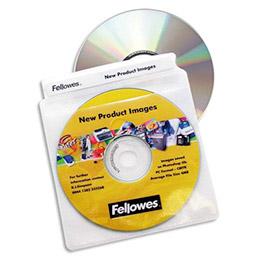 Paquet de 100 pochettes plastique pour cd/dvd (photo)