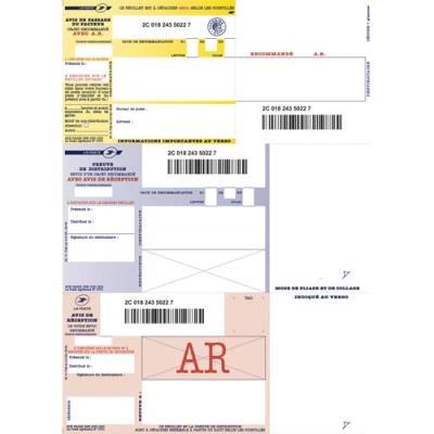 Boîte de 1000 imprimés recommandés IB1 - A4 - avec AR - pour impression jetd'encre et laser (photo)