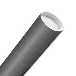 Tube d'expédition en carton - 80 mm x 650 mm - coloris gris (photo)