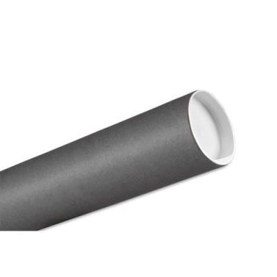 Tube d'expédition en carton - 80 mm x 650 mm - coloris gris (photo)