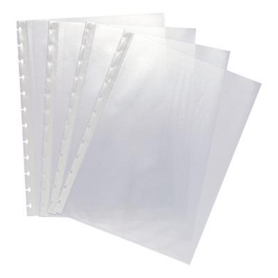 Pochette perforée lisse Exacompta - A4 - polypropylène 55 microns - 12 trous - transparent - paquet 20 unités (photo)