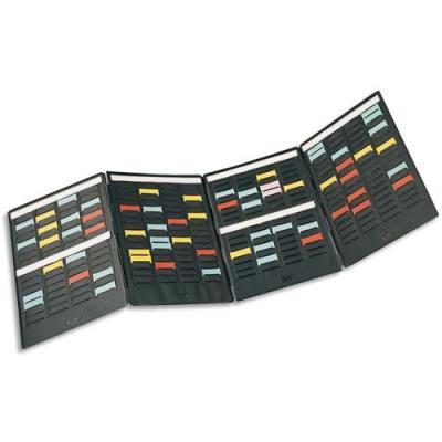 Kit de 4  volets Val-Rex Mini-Planner - volet 4 bandes 17 fentes - pour fiche indice 1.5 - livré avec 1000 fiches (photo)