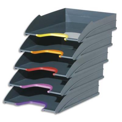 Set de 5 corbeilles à courrier Durable Varicolor - coloris assortis