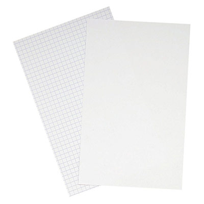Fiches bristol Oxford - 75 x 125 mm - blanc quadrillé 5x5 - paquet 100 feuilles