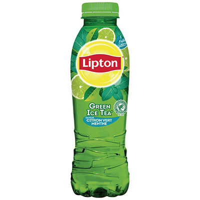 Boisson au thé Green Ice Tea - saveur citron vert et menthe - bouteille PET de 50 cl (photo)