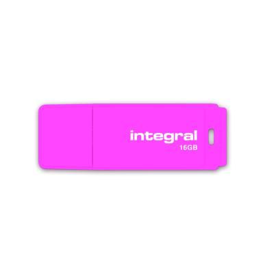 Clé USB 2.0 Integral NEON - 16 Go - Rose