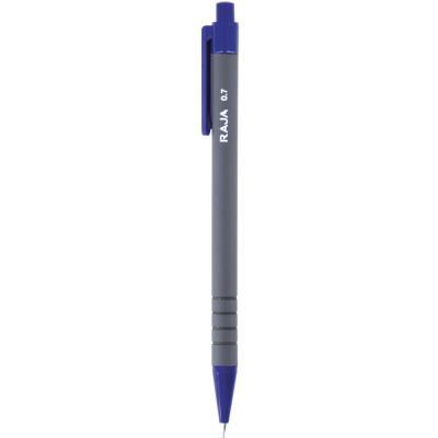 Porte-mine - mine HB de 0,7 mm - corps bleu/gris avec zone de préhension