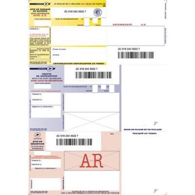 Boîte de 150 imprimés recommandés IB1 - A4 - avec AR - pour impression jet d'encre et laser (photo)