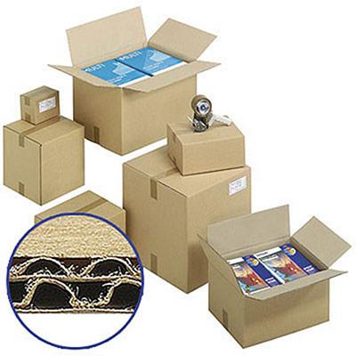 Caisse carton brune - double cannelure - 50 x 40 x 40 cm (photo)