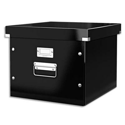 boite pour dossiers suspendus click store noire l35. Black Bedroom Furniture Sets. Home Design Ideas
