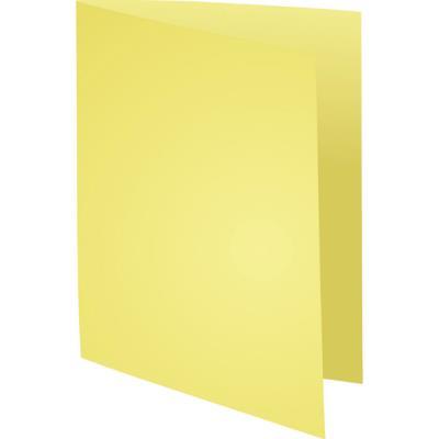 Chemises Exacompta Super carte 220 g/m² - jaune - paquet 100 unités