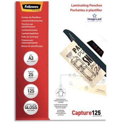 Pochettes de plastification Fellowes - A3 - 125 microns - boîte de 25