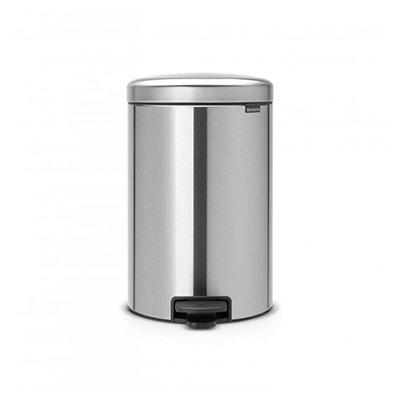 Poubelle à pédale Newicon - 20 litres - acier mat