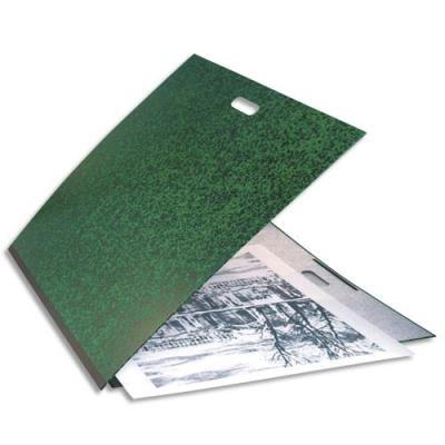 Carton à dessin 59 x 72 cm Annonay vert avec élastiques et poignée de transport Exacompta (photo)