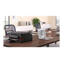 Canon PIXMA G6050 - Imprimante multifonctions - couleur - jet d'encre - Refillable - A4 (210 x 297 mm), Letter A (216 x 279 mm) (original) - A4/Legal (support) - jusqu'à 13 ipm (impression) - 350 feuilles - USB 2.0, LAN, Wi-Fi(n) (photo)