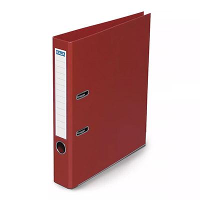 Classeur à levier Pergamy - polypropylène intérieur/extérieur - dos 5 cm - A4 - rouge