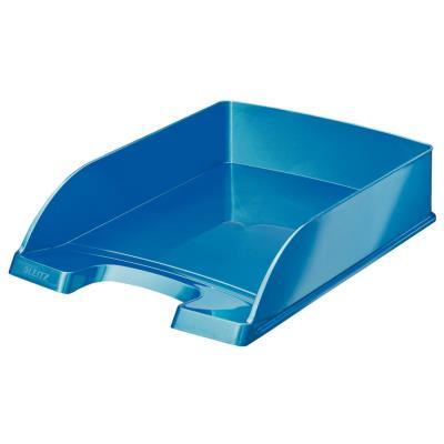 Corbeille à courrier Leitz Wow bleu métallisé 35,7x7x25,5 cm