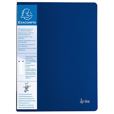 Protège-documents Exacompta Up Line - spécial classement vertical - 20 pochettes / 40 vues - bleu