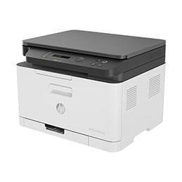 HP Color Laser MFP 178nw - Imprimante multifonctions - couleur - laser - A4 (210 x 297 mm) (original) - A4/Letter (support) - jusqu'à 18 ppm (copie) - jusqu'à 18 ppm (impression) - 150 feuilles - USB 2.0, LAN, Wi-Fi(n) (photo)