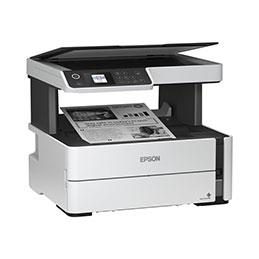 Epson EcoTank ET-M2170 - Imprimante multifonctions - Noir et blanc - jet d'encre - Refillable - A4/Legal (support) - jusqu'à 39 ppm (impression) - 250 feuilles - USB, LAN, Wi-Fi - blanc (photo)