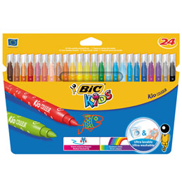 Etui de 24 feutres de coloriage Bic Kids Couleur - pointe moyenne - coloris assortis (photo)