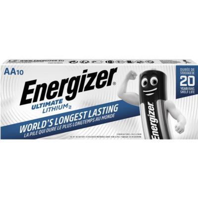 Pile AA / LR6 Energizer Ultimate Lithium - lot de 10