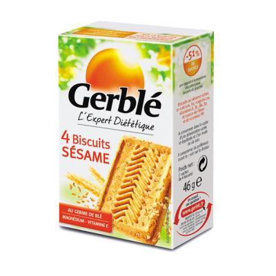 Biscuits diététiques Sésame - boîte de 4 - paquet 18 x 46 grammes