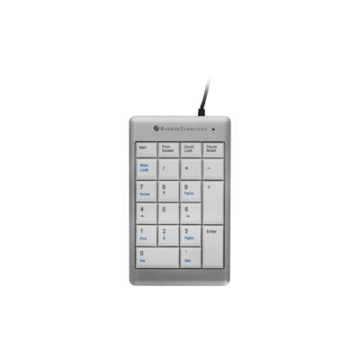 Pavé numérique UltraBoard 955 USB Bakker - argenté / blanc