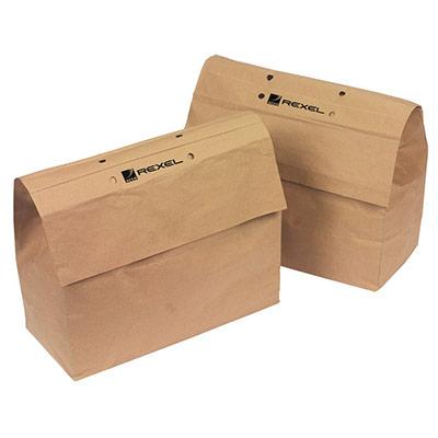 Sacs en papier recyclé pour destructeurs de documents - 70 L - marron - paquet 50 unités