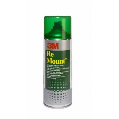 Aérosol de colle 3M Remount - pour repositionnements multiples - 400 ml (photo)